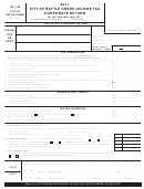 Form Bc-1120 - Income Tax Corporate Return - City Of Battle Creek - 2011