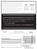 Form Com/st-118a - Consumer Use Tax Return For Out-of-state Purchases - 2010