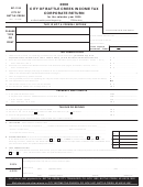 Form Bc-1120 - Income Tax Corporate Return - City Of Battle Creek - 2008