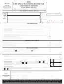 Form Bc-1120 - Income Tax Corporate Return - City Of Battle Creek - 2010