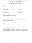 School Medication Authorization Form; Self-administration Of Emergency Medications Template