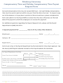 Compensatory Time And Holiday Compensatory Time Payout Request Form