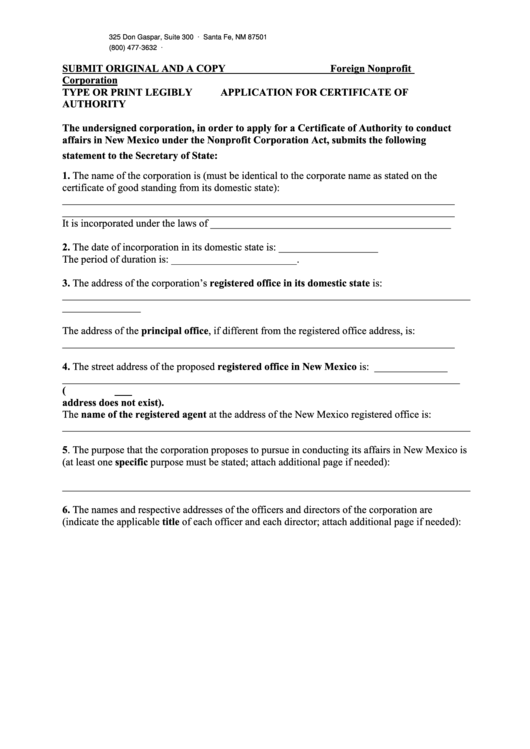 Fillable Form Fnp - Application For Certificate Of Authority, Form F-Stmnt - Statement Of Acceptance Of Appointment - 2013 Printable pdf