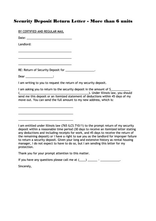 Sample Letter To Landlord Improper Deductions