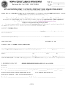 Application Form For A Permit To Operate A Temporary Food Service Establishment - Monroe County Health Department