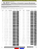 Form Rl-26-h-1 - Inventory Of Alcoholic Liquors Worksheet