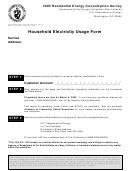 Form Eia-457e - Household Electricity Usage Form