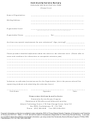 Community Service Bursary Organization Registration Form