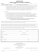 Juvenile Community Work Service Agreement Form