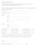 Letter Of Attestation Form