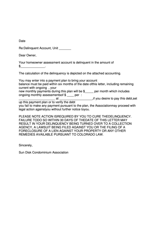 Debt Collection Agency >> Sample Demand Letter Form For Delinquent Account printable ...
