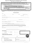 Request For Official Florida Ged Diploma And/or Transcript Form August 2009