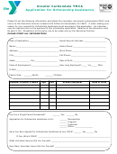 Application For Scholarship Assistance Form - Greater Carbondale Ymca