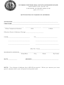 Notification Of Change Of Address Form