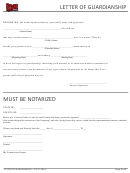 Letter Of Guardianship Form