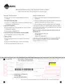 Form-pr - Montana Partnership Tax Payment Voucher