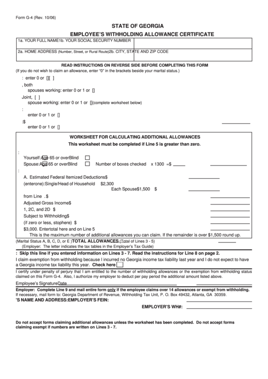 Top 31 Georgia Withholding Form Templates free to download in PDF ...