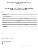 Application To Engage In The Sale Or Purchase Of Livestock Form
