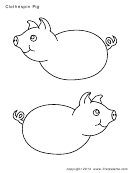 Clothespin Pig Sheet