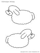 Clothespin Sheep Sheet