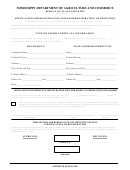 Application For Registration And/or Reregistration Of Pesticides - Department Of Agriculture And Commerce