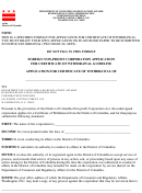 Foreign Non-profit Corporation Application For Certificate Of Withdrawal Form