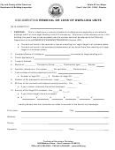 Documenting Removal Or Loss Of Dwelling Units Form - San Francisco - Department Of Building Inspection