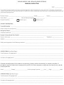 Diabetes Action Plan Form