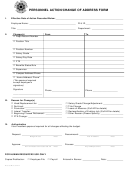 Ppersonnel Action Form//change Of Address Form