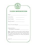 Vacation Credit Request Form - Kensington School