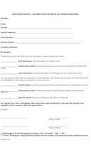 Mortgage Payoff - Assumption Request - Authorization Form