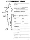 Costume Measurement Chart Form - Male - Female