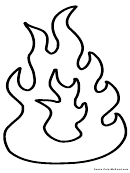 Flame Coloring Sheet