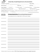 United Way Respite Service Documentation Form