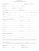 Alarm Permit Application Form - City Of Terrell, Texas