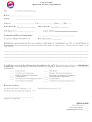 Application For Board Appointment Form - City Of Terrell, Texas