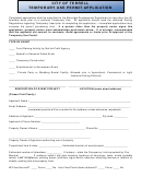 Temporary Use Permit Application Form - City Of Terrell. Texas