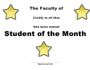 Student Of The Month Stars Fillable Template