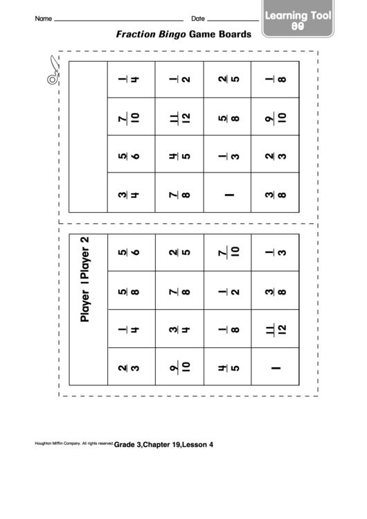 photograph relating to Fraction Bingo Printable identify Portion Bingo Video game Message boards Template printable pdf obtain