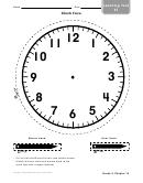 Clock Face Worksheet Template