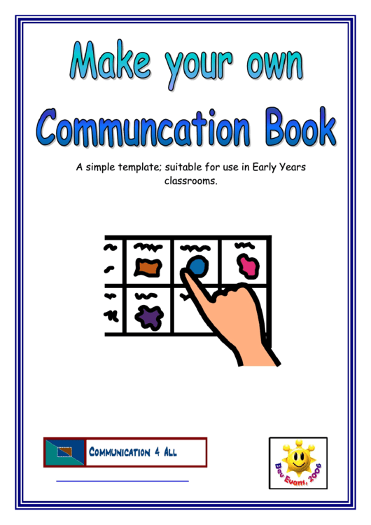 Communication Book Template Printable pdf