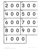 Secret Code Cards (200-1000) Worksheet