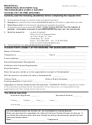 Request For A Ceremonial Document Form From The Honorable James F. Kenney Mayor, City Of Philadelphia