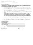 Hst 498 Senior Thesis Contract Form