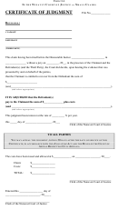 Form 11a - Certificate Of Judgment