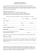 Swiftwater Adventures Medical Information Form