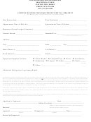 Clifton Recreation Equipment Rental Request Form