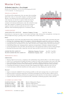 Administrative Assistant Sample Resume Template