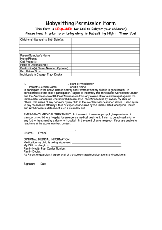 top babysitting application form templates free to download in pdf