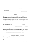 Form Dc 1001-washington State Court Forms